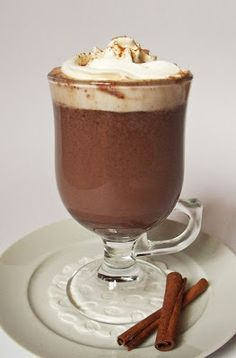 Citromhab: Forró csokoládé Chia Puding, Café Chocolate, Yummy Drinks, Latte, Recipies, Food And Drink, Pudding, Sweets, Cookies