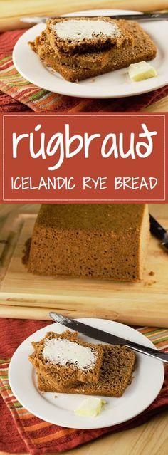 Rúgbrauð Icelandic Rye Bread Rúgbrauð, or Rugbraud, is a traditional Icelandic dark rye bread, sweet and hearty with a rich… Danish Rye Bread, Danish Food, Iceland Christmas Food, Rye Bread Recipes, Nordic Recipe, Norwegian Food, Norwegian Recipes, Scandinavian Food, Bread Baking