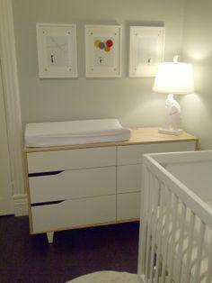 nursery using Mandal dresser from IKEA