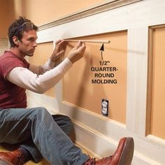 How to Build a Wainscoted Wall - Step by Step | The Family Handyman More