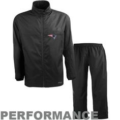 Antigua New England Patriots  Performance Black Storm Suit