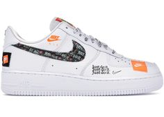 77b25bde3e Air Force 1 Low Just Do It Pack White/Black All White Air Forces,