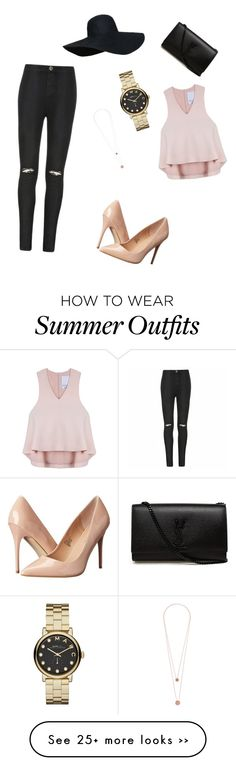"""""""My First Polyvore Outfit"""" by ugne102 on Polyvore featuring Ally Fashion, Cameo, Yves Saint Laurent, Madden Girl, Marc by Marc Jacobs and Pieces"""