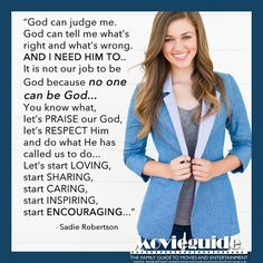 #SadieRobertson on what it is to be a #Christian!