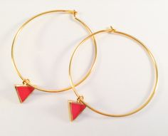 Laiton doré à l'or fin - Email Email, Charlotte, Hoop Earrings, Jewelry, Fashion, Brass, Moda, Jewlery, Jewerly