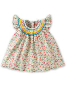Oilily blouse BEPPE, this would be a great summer dress for V. Not to hard to do with elastic thread.