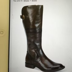 """Born Tallulah Tall Boots  tan New in box BORN Tallulah Tall Boots in tan color , leather, almond toe tall boots with diode zipper, strap and buckle detail at back, shaft 13-3/4""""H 14-1/2"""" circumference, 1"""" heel Born Shoes Ankle Boots & Booties"""