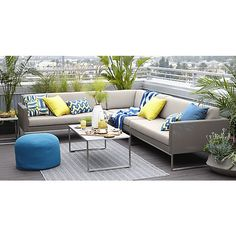 Dune 3 Piece Sectional Sofa With Sunbrella ® Cushions. Outdoor  SectionalsSunbrella Outdoor FurnitureWood ...