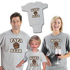 Hurry and get your paws on these unbearably cute T-shirts for the whole den!