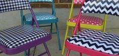 Se você quer renovar o visual de sua casa ou de sua festa, comece já a forrar cadeiras de ferro (Foto: rileyblakedesigns.com)