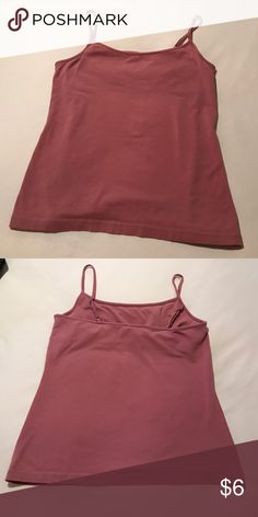 Tank top Adjustable straps built in bra tank top pretty pink color Tops Tank Tops
