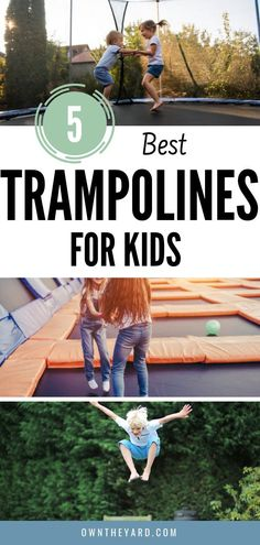 Wondering what the best trampoline is for your kids? Backyard Swing Sets, Backyard Toys, Modern Backyard, Backyard Playground, Backyard For Kids, Backyard Ideas, Outdoor Yard Games, Outdoor Play Areas, Outdoor Fun
