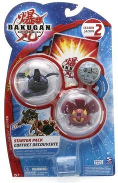 """Bakugan Battle Brawlers Season 2 Bakuneon Series, New Vestroia Starter Pack - """" NOT Randomly Picked"""", Shown As In The Picture! (C) by Spin Master. $19.99. """"NOT"""" randomly picked, you are getting what is shown in the picture.. For age 5 and up. Bakugan Battle Brawlers Season 2 Bakuneon Series, New Vestroia Starter Pack. Starter pack includes: 3 Bakugan, 3 ability cards, and 3 metal gate cards. Warning! Risk of serious digestive injuries in the event that magnets are swallowed!. N..."""