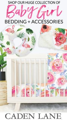 Shop the largest and most stylish collection of baby girl crib bedding and accessories to create your dream nursery!