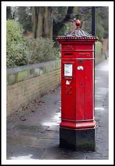 Victorian Pillar Box, Osborne Avenue, Jesmond, Newcatle-upon-Tyne - Penfold Hexagonal Pillar Box dating to Pillar boxes have been in use since just 12 years after the introduction of the first adhesive postage stamps and uniform penny post. Antique Mailbox, Vintage Mailbox, Diy Mailbox, Postage Stamp Design, Postage Stamps, Post Boxes Uk, Birthday Card Pictures, Drawing Ideas List, Telephone Booth