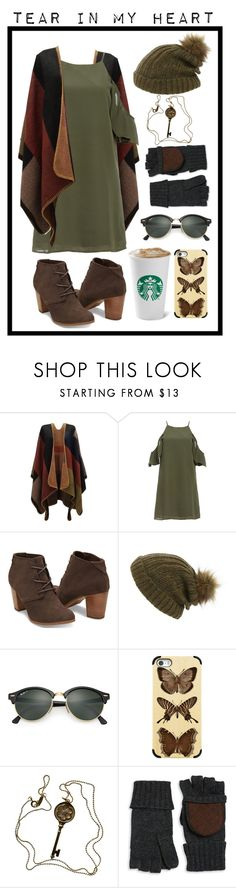 """""""Tear In My Heart // Twenty One Pilots"""" by mandalore ❤ liked on Polyvore featuring DailyLook, TOMS, Maison Scotch, Ray-Ban, Casetify, Tiffany & Co. and Lauren Ralph Lauren"""