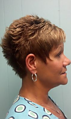 Short, spike, easy, too cute cut..Angela's Touch Hair Salon