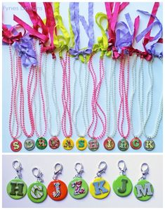 Kids DIY Clay Initial Jewelry perfect for a party favour!