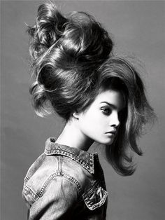 Not perhaps the most practical of hair-do's but wow!  via Chic Models