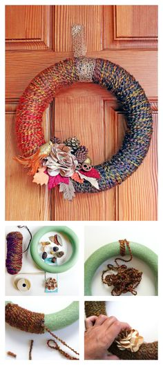 DIY Wreath: Learn how to make a minimalist yarn wreath for fall/winter or any time of year!
