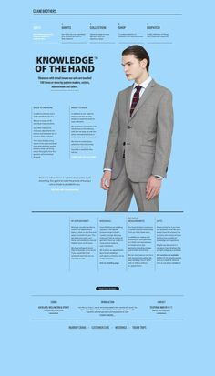 Best About Pages – Showcasing the best of the best about page examples on the web » Crane Brothers Suits
