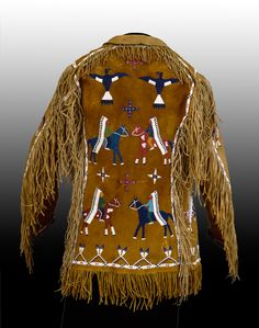 Lakota (Teton/Western Sioux) artist Jacket, late 19th century Leather, glass, brass