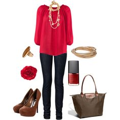 Untitled #102, created by #bstowe87 on #polyvore. #fashion #style H&M #Longchamp