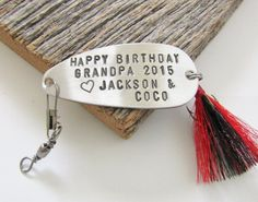 Grandfather Gift for Grandpa Birthday Gift from Grandchildren to Grandpa Fishing Lure Gift for Papa Personalized Birthday Gift Pop Father by CandTCustomLures on Etsy