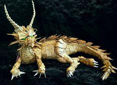 Cool cardboard animatronic dragon by the WTF? Art Lab