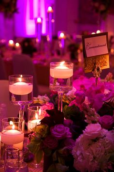 Pretty lavender wedding reception