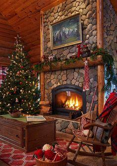 christmas_wonderland_is_magic on Poshinsta Cabin Christmas, Christmas Tree With Gifts, Christmas Fireplace, Christmas Tree Themes, Christmas Scenes, Christmas Mood, Country Christmas, Christmas Candy, Christmas Morning