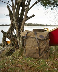 Frost River Grand Portage Pack. Great waxed canvas canoe pack. Photo Dewey Koshenina