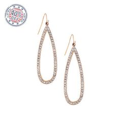 Open Pavé Teardrop Earrings -- 40% off at my boutique. . .  https://www.chloeandisabel.com/boutique/neenahsboutique