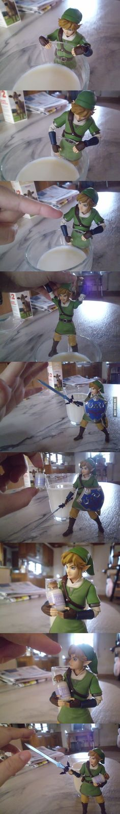 Little Link and his milk