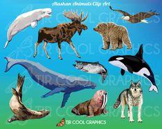 Alaskan Animals Clip Art by JoyCreating on Etsy