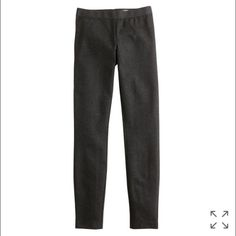 "NWT J Crew Pixie Pant on Heather Charcoal Essential Pixie pant skinny from J Crew for work.  Heathered charcoal size 0 short.  27"" inseam. So cute and comfy and easy to elevate. New with tags! J. Crew Pants Skinny"