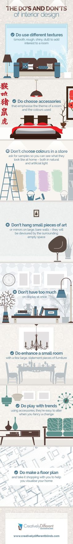 Doing up the house? Do's and don'ts of interior design infographic to avoid feng shui Faux pas.