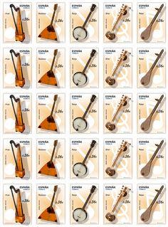 Instrumentos musicales Stamp Collecting, Musical Instruments, Musicals, Geek Stuff, Ideas Para, Seals, World, Music Instruments, Vocabulary