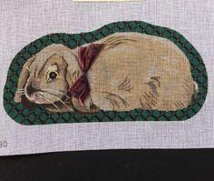Rabbit-Bunny-Hand-Painted-Needlepoint-Canvas-DD530-Associated-Talents-Ribbon