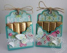 These chocolatboxes made by Sandra match perfectly to the two cards of Peet below. Candy Crafts, 3d Paper Crafts, Paper Crafting, Little Presents, Little Gifts, Homemade Gifts, Homemade Cards, Craft Gifts, Handmade Cards
