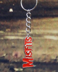 NEW IN STOCK! MISFITS Official Merchandise Product Keyring Brand RED LOGO NEW http://ift.tt/1jethFy