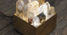 Liked on Pinterest: Crystal lamp box / For the crystal lover hostess