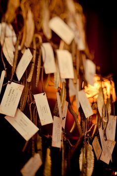 Could we combine seating cards with notes? Each person gets a luggage tag as their place card and we ask them to leave us a note for us to read after the wedding :)