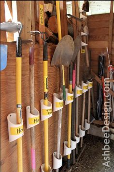 DIY shed/garage orginazation - gonna have to use this idea #Organized #Storage #Garage