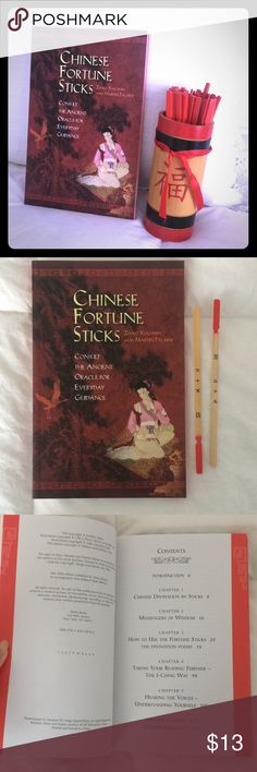Chinese fortune stocks and interpretation book Very fun Chinese fortune sticks which comes with the Chinese interpretation book. A hit for divination or parties. Accessories