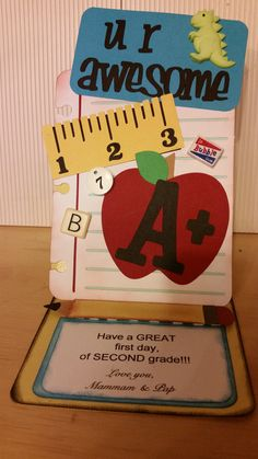 Grandson's back to school card
