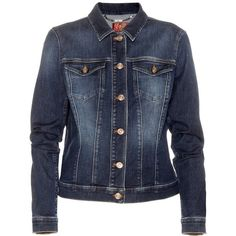 7 For All Mankind Classic Trucker Denim Jacket ($275) ❤ liked on Polyvore featuring women's fashion, outerwear, jackets, blue, 7 for all mankind, blue jean jacket, blue denim jacket, blue jackets and denim jacket