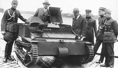 Representatives of the Latvian Army Command examine arrived from England tankette Carden-Loyd MK-VI. Riga, Armored Vehicles, Military Vehicles, Army, Lithuania, Tanks, England, Steel, Gi Joe