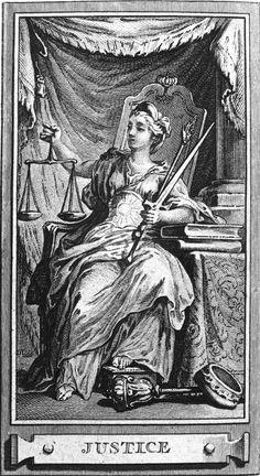 La justicia, grabado francés de Gravelot y Cochin, de mediados del siglo XVIII. Ruth Totolhua