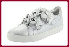 Kennel und Schmenger Sneaker Slip-on Town Damen silber Blumen mit  Klettverschluss Leder EU 37 (UK 4) - Sneakers für frauen ( Partner-Link) d90e4241b3098